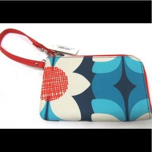 Fossil Blue/Red Wristlet Purse